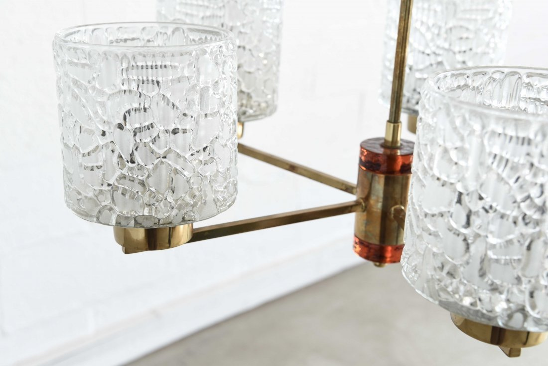 CARL FAGERLUND FOR ORREFORS CHANDELIER - 7