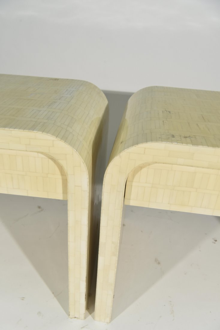 (2) KARL SPRINGER STYLE TESSELLATED NIGHSTANDS - 4