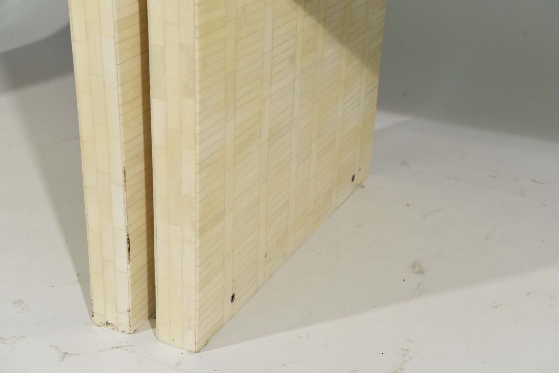 (2) KARL SPRINGER STYLE TESSELLATED NIGHSTANDS - 9