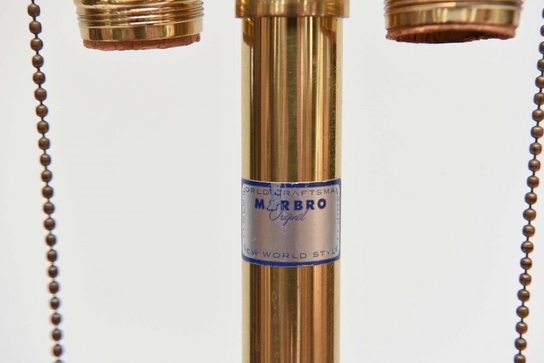 (2) SEGUSO; MARBRO BLUE RIBBED MURANO LAMPS - 8