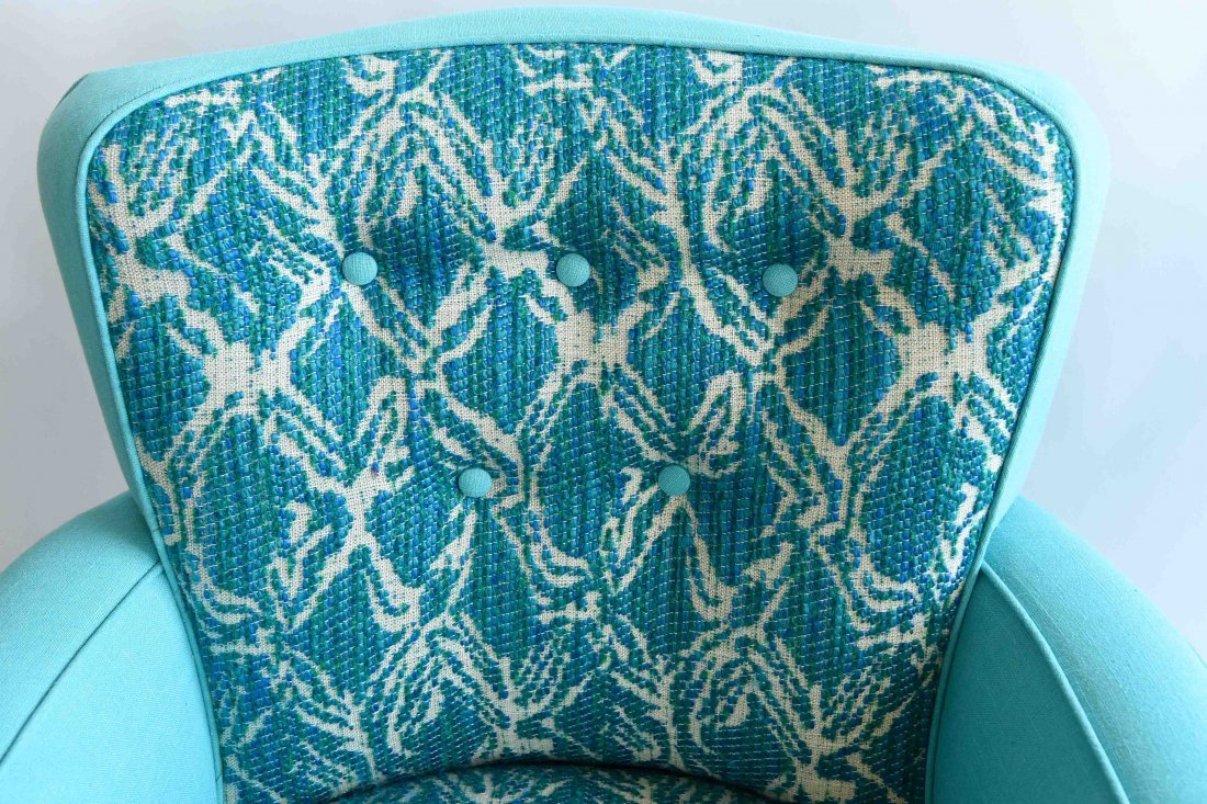 PAIR OF UPHOLSTERED ARM CHAIRS - 3