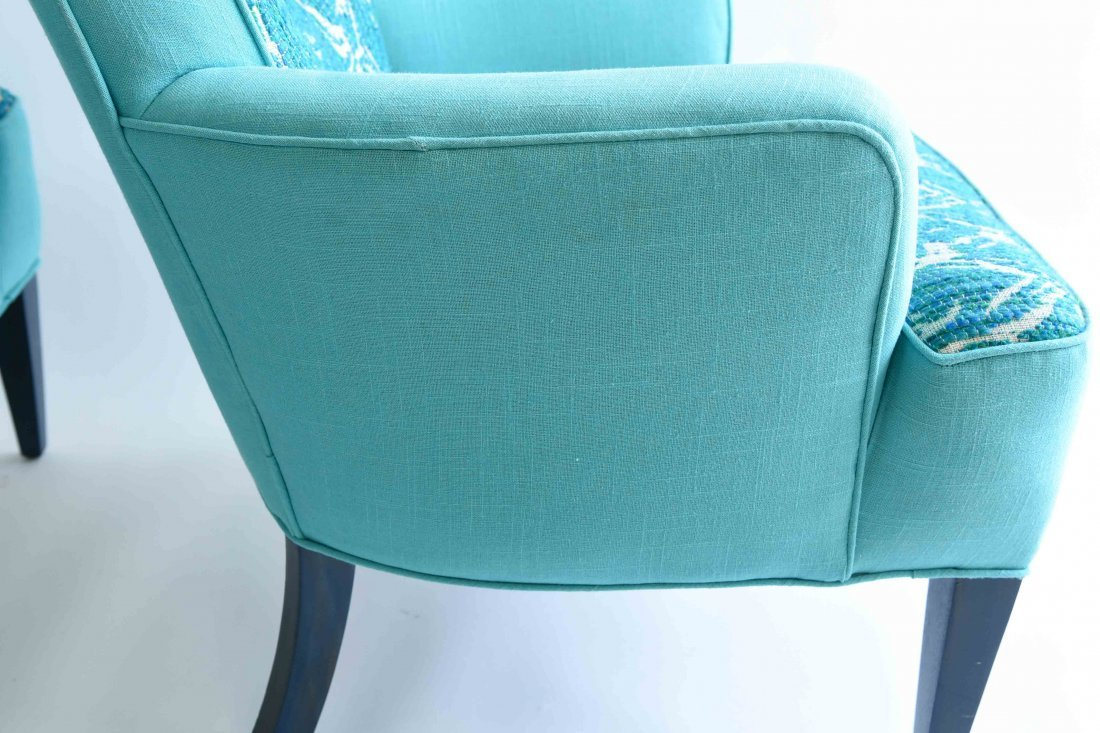 PAIR OF UPHOLSTERED ARM CHAIRS - 8