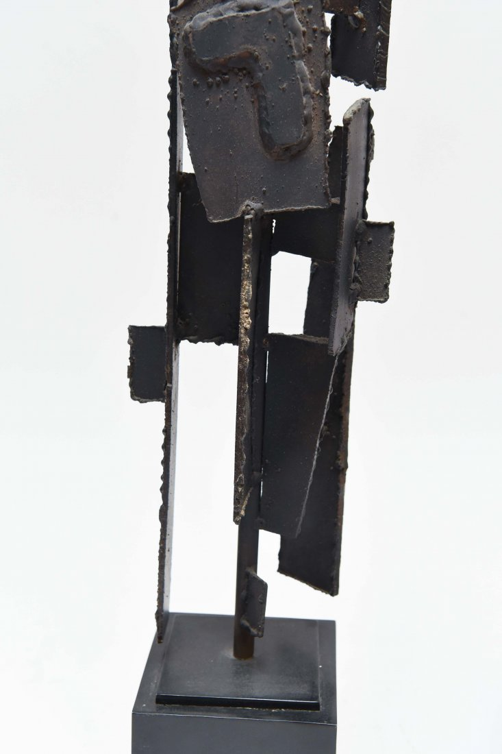 (2) HARRY BALMER; LAUREL CUT STEEL BRUTALIST LAMPS - 3
