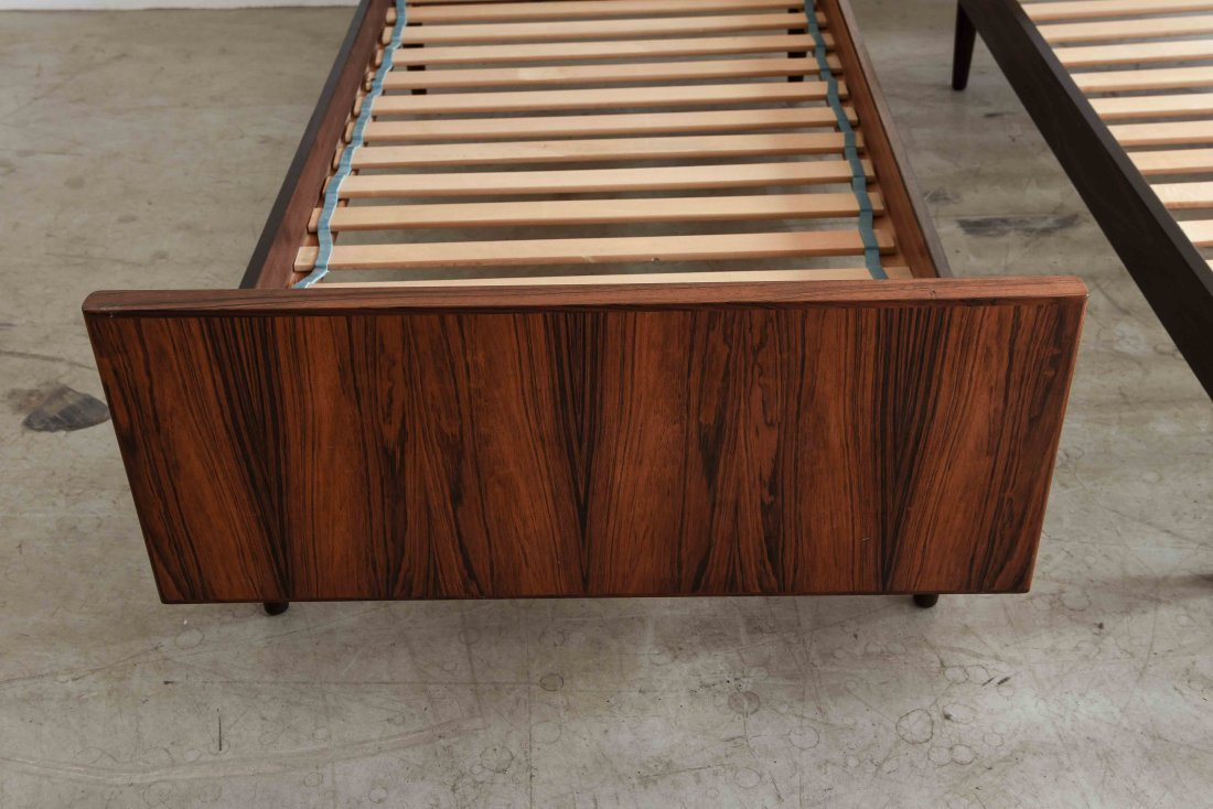 TWO SANNEMAN ROSEWOOD BEDS - 2