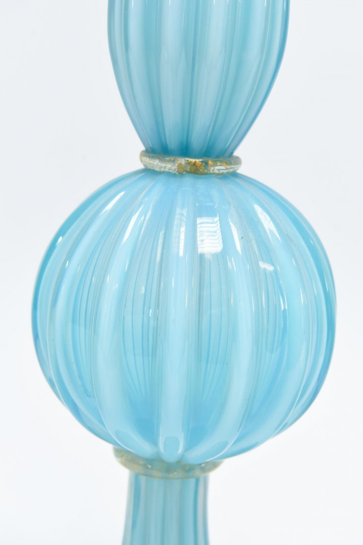 (2) BAROVIER & TOSO BLUE & WHITE TABLE LAMPS - 4