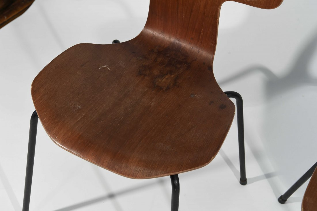 (3) T-BACK FRITZ HANSEN CHAIRS - 2