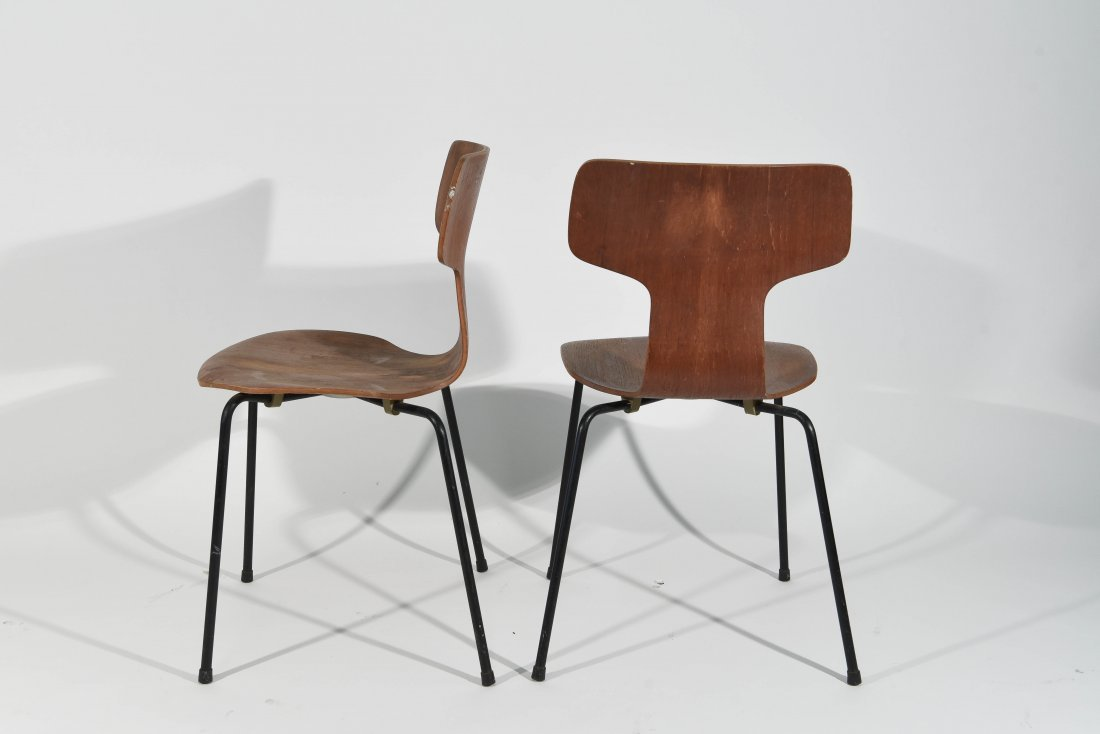 (3) T-BACK FRITZ HANSEN CHAIRS - 7