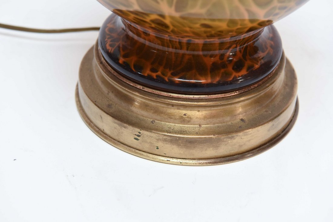 (2) ATTR. MARBRO TORTOISE SHELL CASE GLASS LAMPS - 3