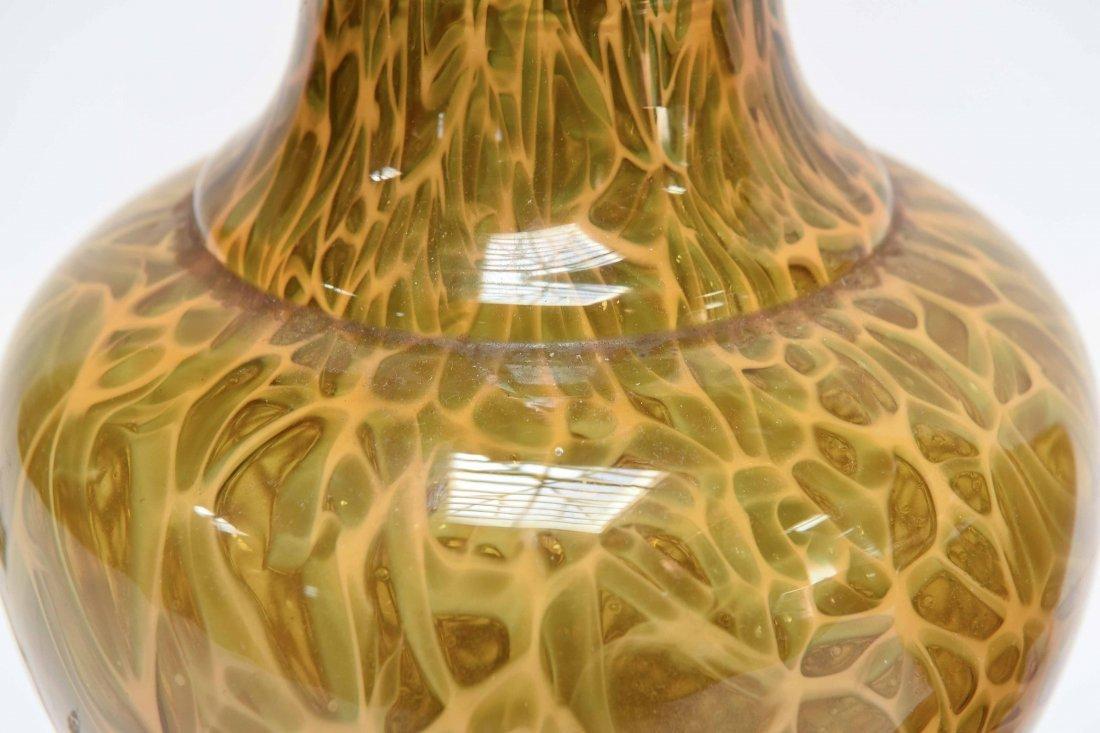 (2) ATTR. MARBRO TORTOISE SHELL CASE GLASS LAMPS - 7
