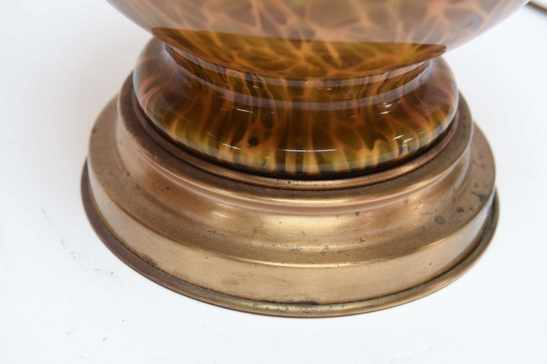 (2) ATTR. MARBRO TORTOISE SHELL CASE GLASS LAMPS - 8