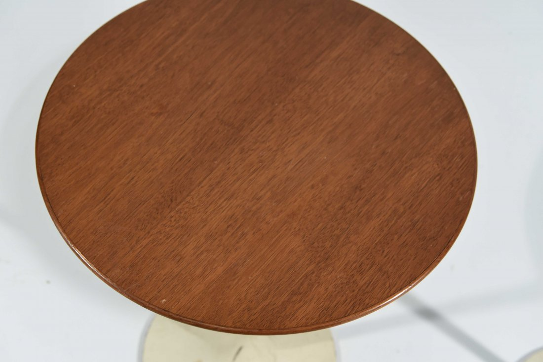 PAIR OF EERO SAARINEN FOR KNOLL WALNUT SIDE TABLES - 5