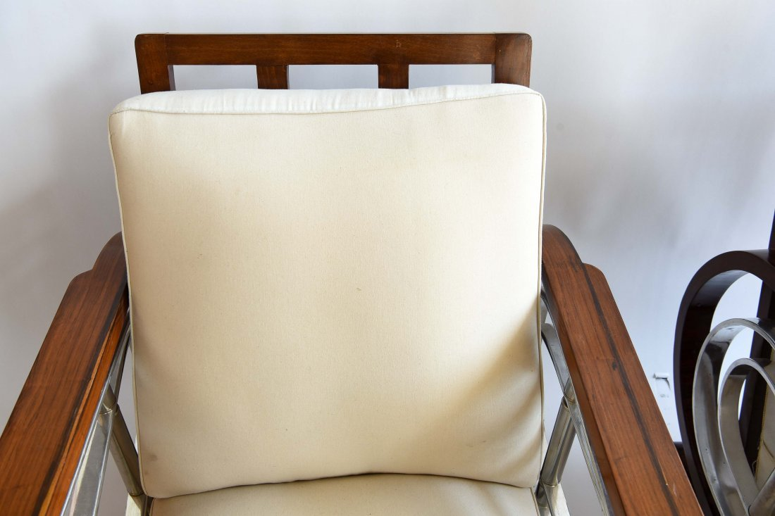PAIR OF ART DECO STYLE CHAIRS - 4