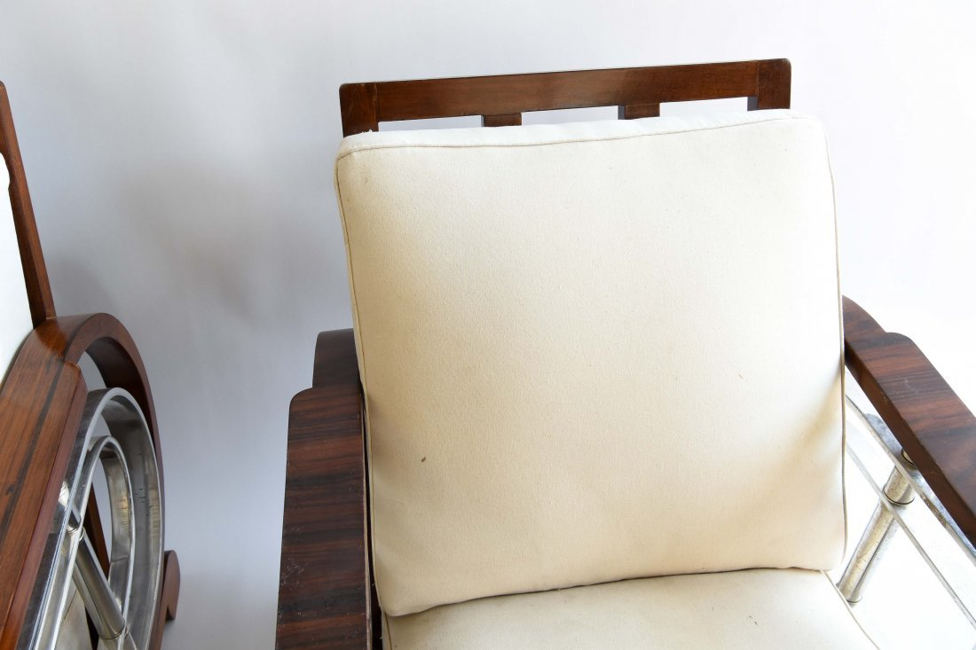 PAIR OF ART DECO STYLE CHAIRS - 5