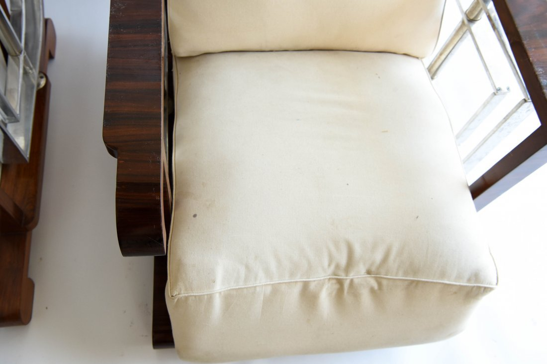 PAIR OF ART DECO STYLE CHAIRS - 6