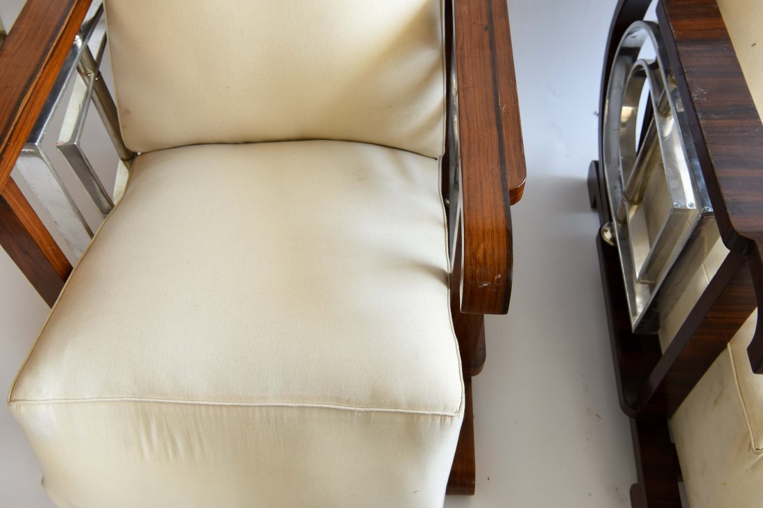 PAIR OF ART DECO STYLE CHAIRS - 7