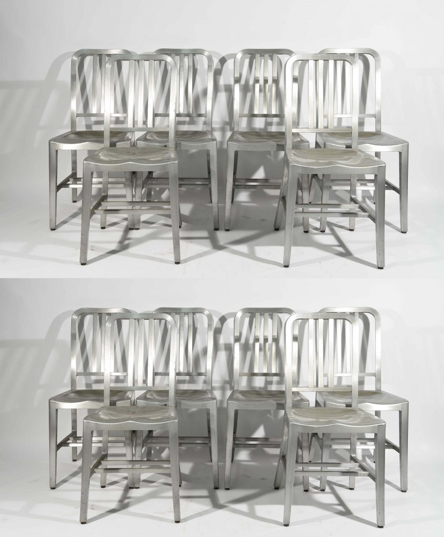 (12) ALUMINUM GOOD FORM CHAIRS