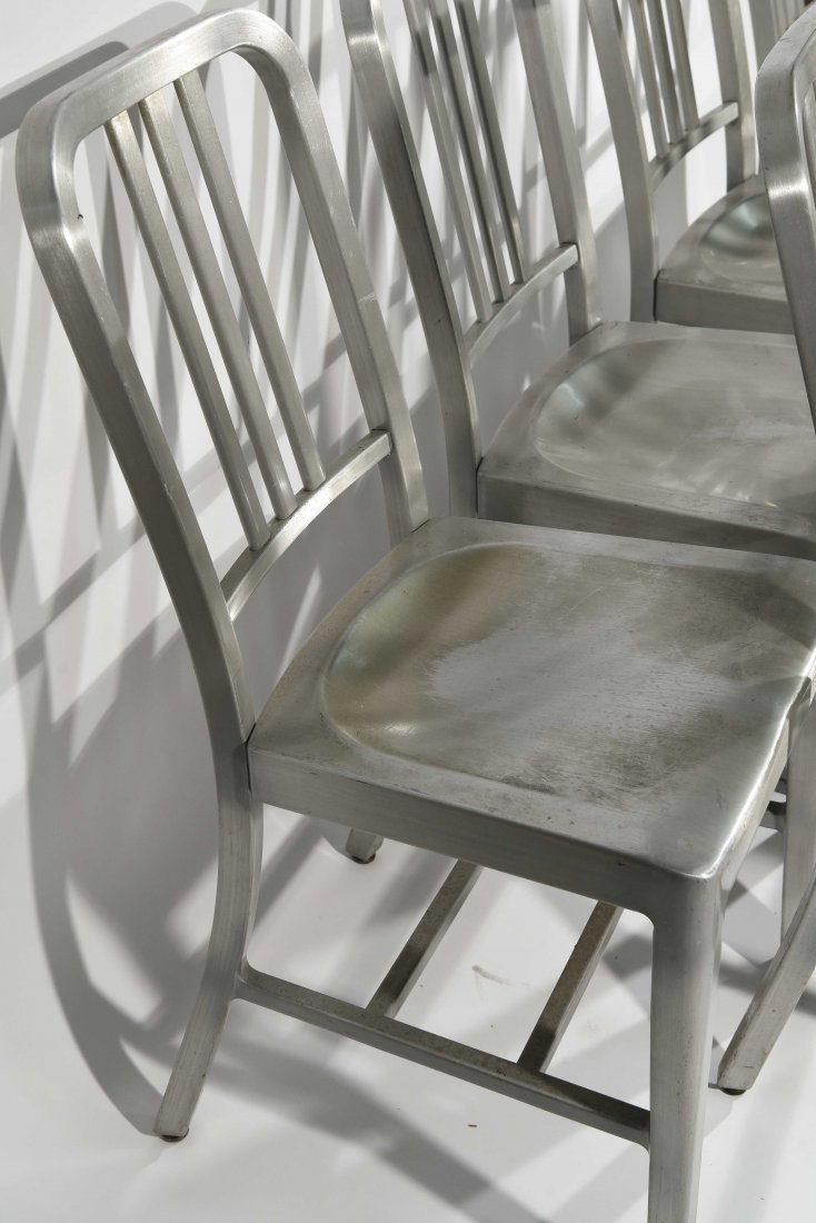 (12) ALUMINUM GOOD FORM CHAIRS - 5