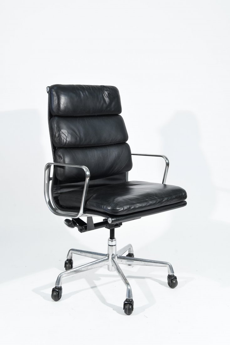 EAMES HERMAN MILLER HIGH BACK SOFT PAD ARM CHAIR