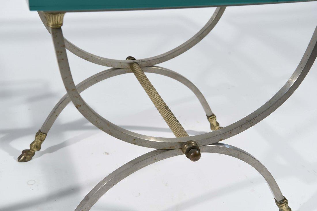 MAISEN JANSEN STYLE BRASS HOOF FEET SIDE TABLES - 5