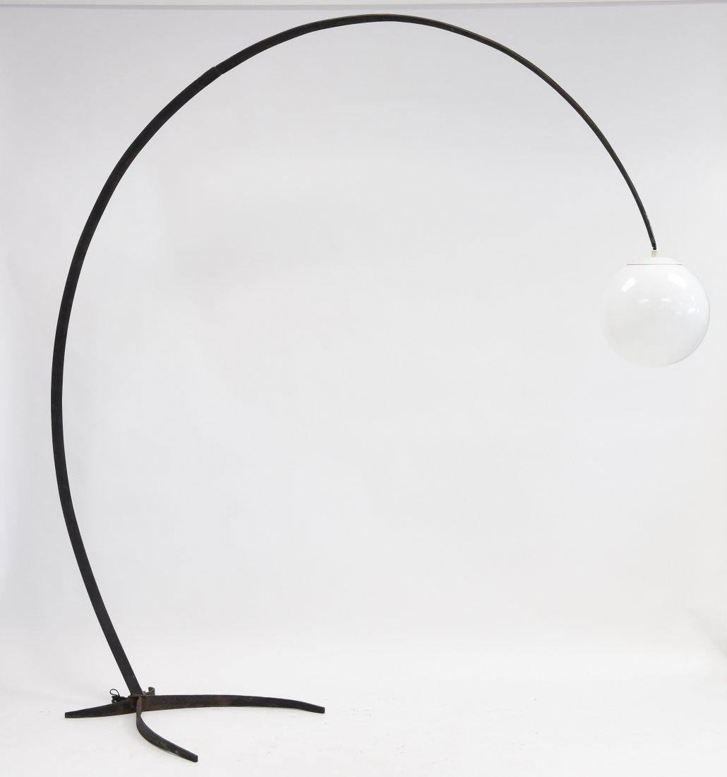 MID-CENTURY IRON ARC LAMP