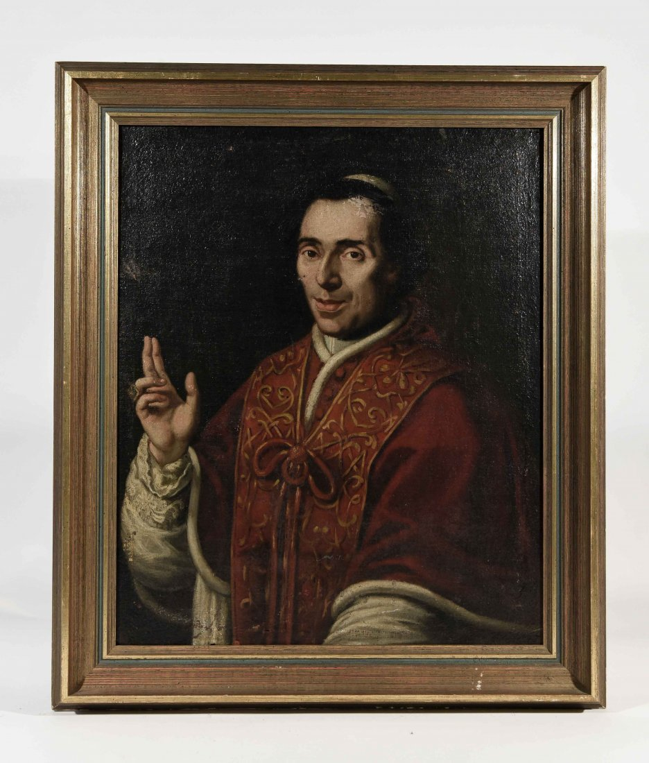 19TH C. PORTRAIT OF POPE PIUS VII, O/C