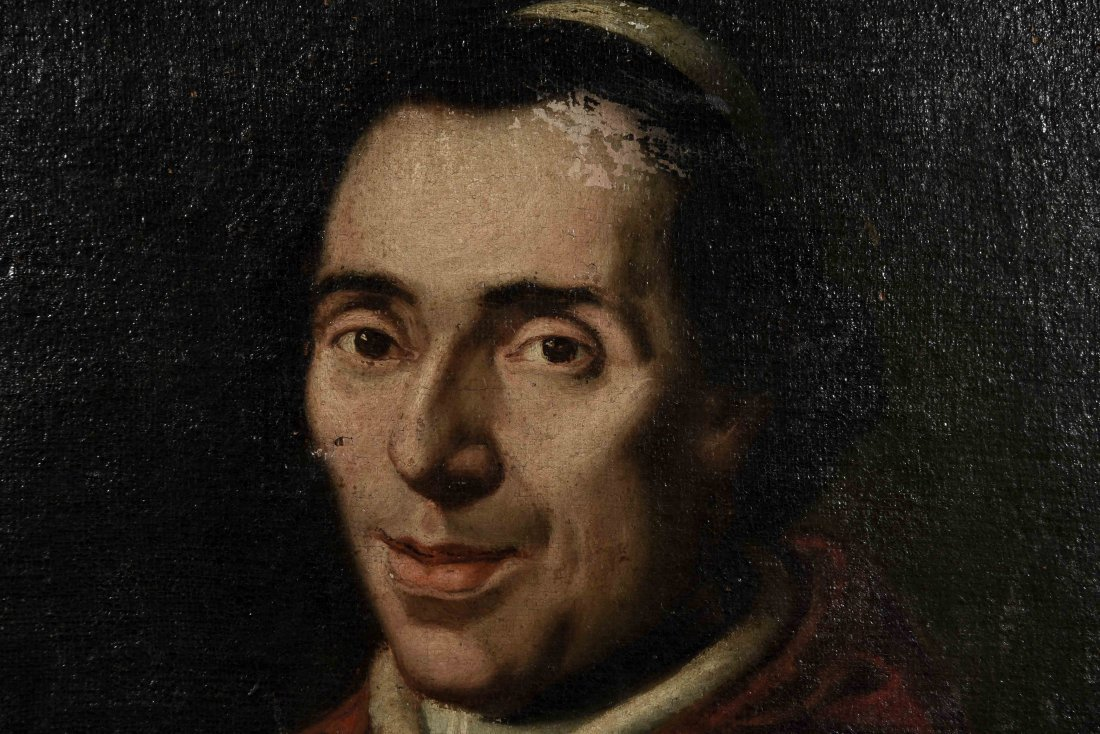 19TH C. PORTRAIT OF POPE PIUS VII, O/C - 2