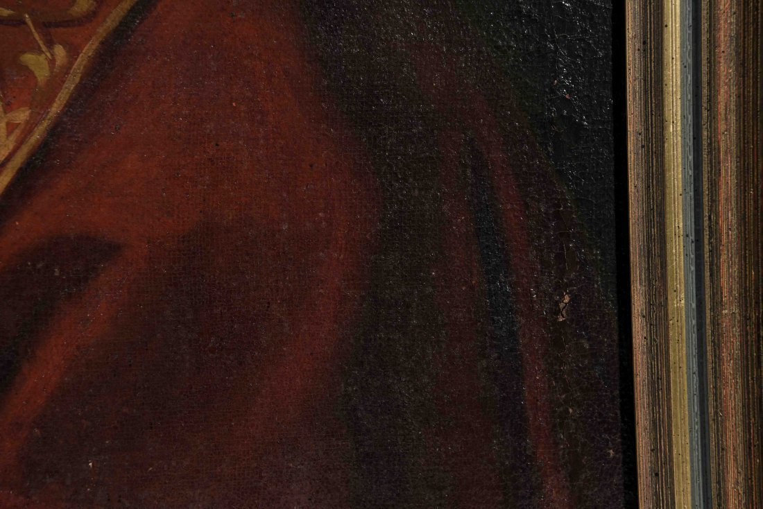 19TH C. PORTRAIT OF POPE PIUS VII, O/C - 7