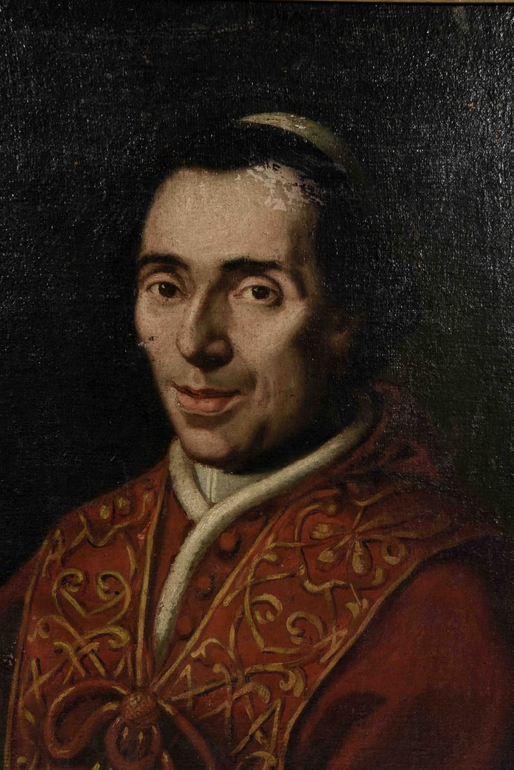 19TH C. PORTRAIT OF POPE PIUS VII, O/C - 8
