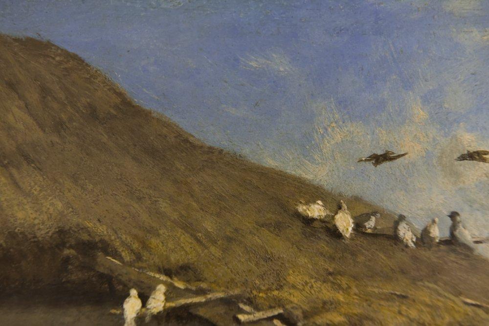 LEOPOLD MUNSCH (AUSTRIAN 1826-1888) HORSE CART,O/P - 6