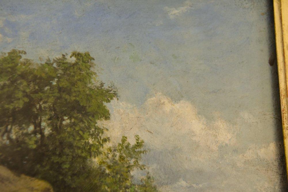 LEOPOLD MUNSCH (AUSTRIAN 1826-1888) HORSE CART,O/P - 7