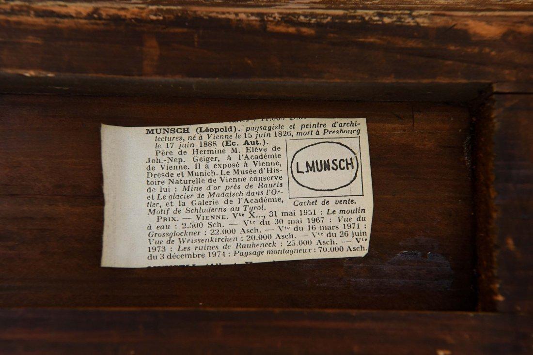 LEOPOLD MUNSCH (AUSTRIAN 1826-1888) HORSE CART,O/P - 9