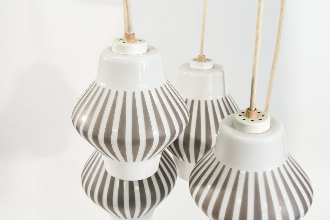 MID-CENTURY 5 LIGHT PENDANT LAMP - 3