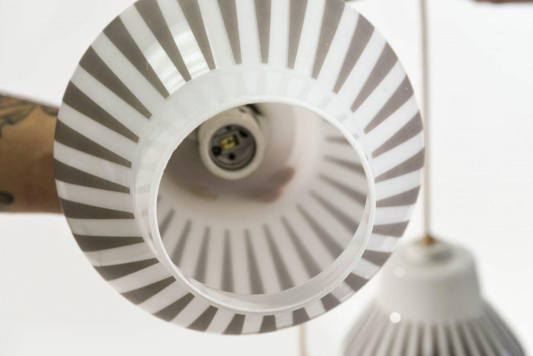 MID-CENTURY 5 LIGHT PENDANT LAMP - 5