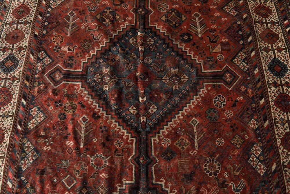 ANTIQUE PERSIAN TRIBAL CARPET - 4