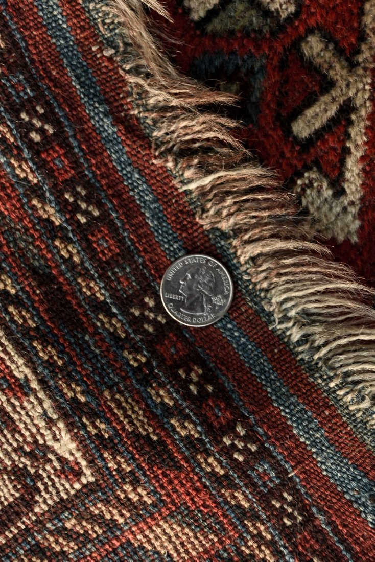 ANTIQUE PERSIAN TRIBAL CARPET - 7