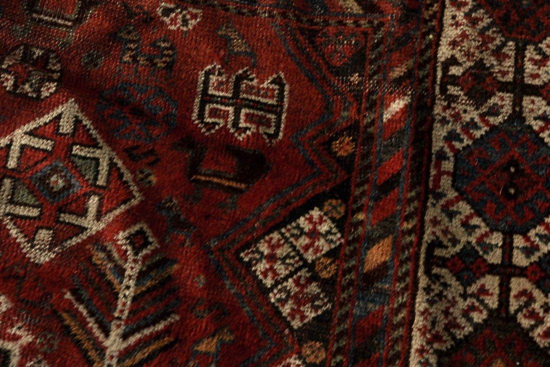 ANTIQUE PERSIAN TRIBAL CARPET - 8