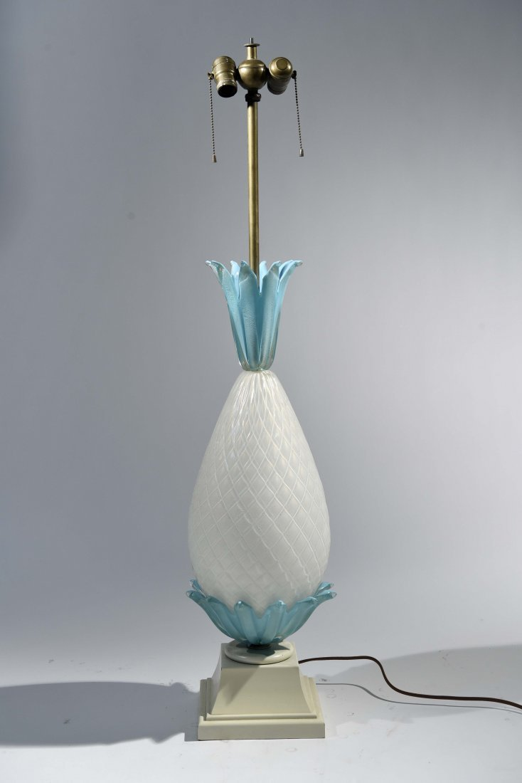 BAROVIER & TOSO PINEAPPLE FORM MURANO TABLE LAMP