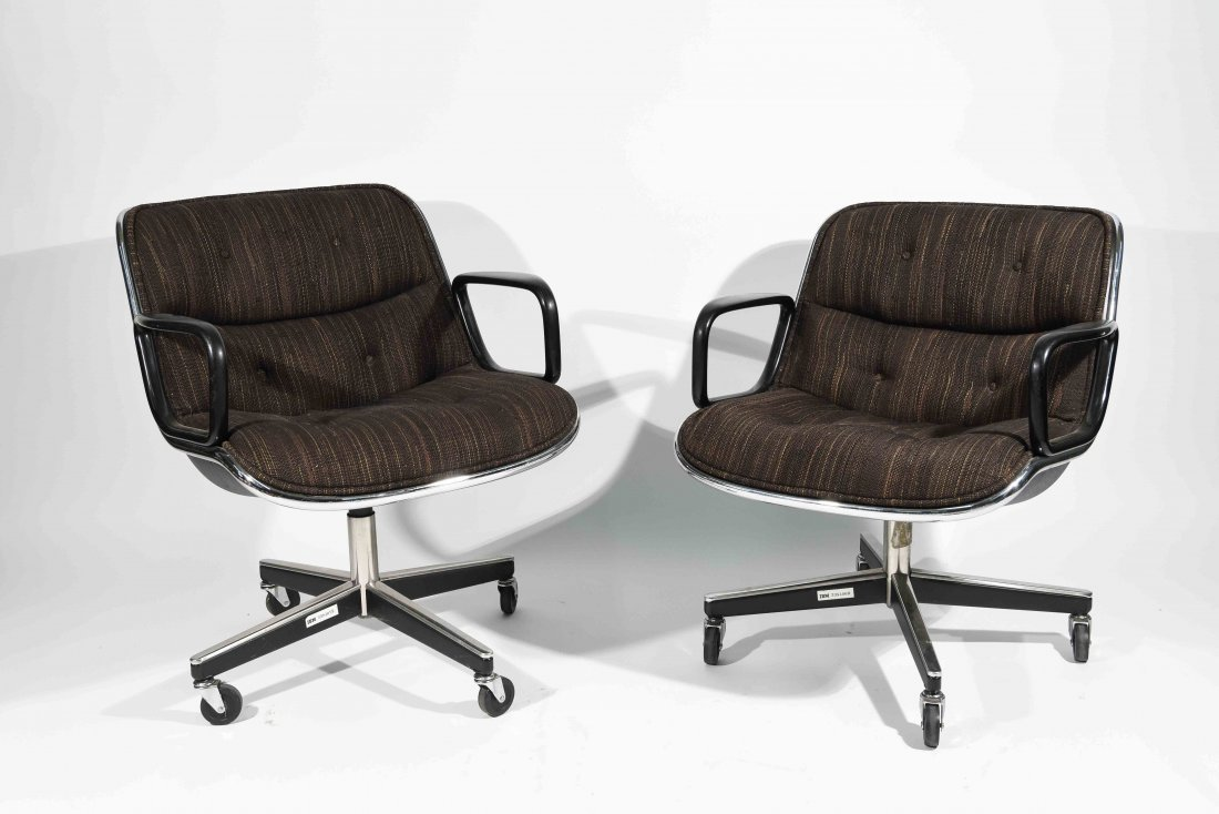 PAIR OF KNOLL POLLOCK EXECUTIVE CHAIRS