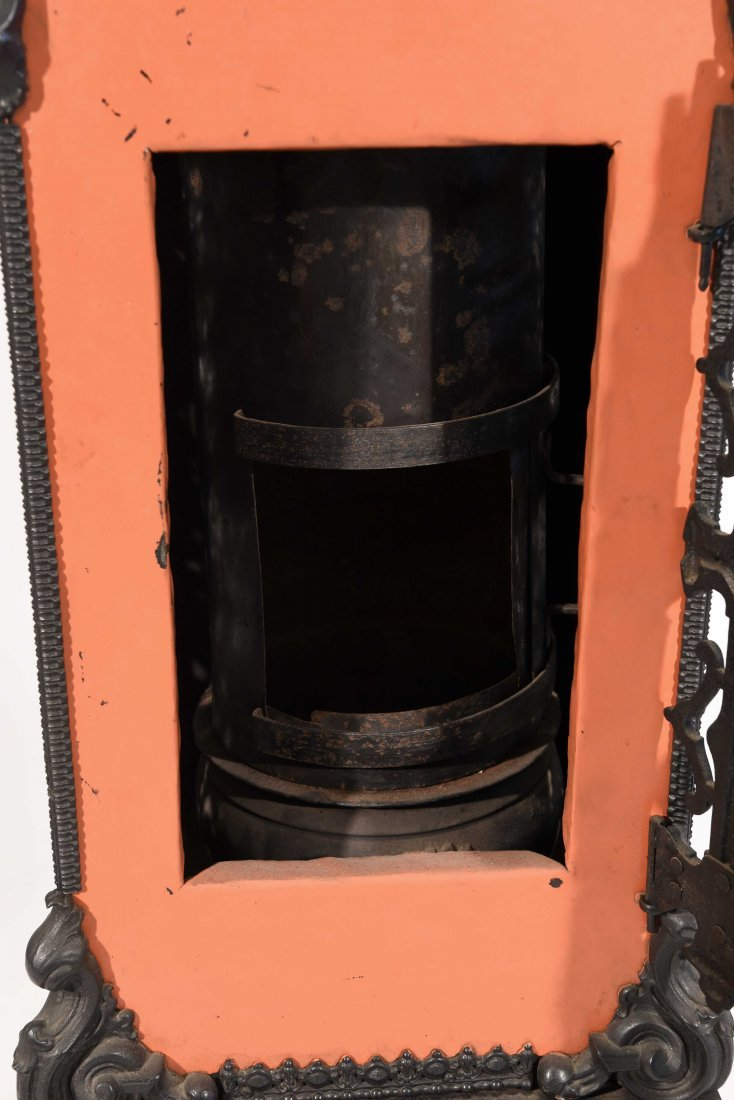 19TH C. CAST-IRON ENAMELED STOVE - 8