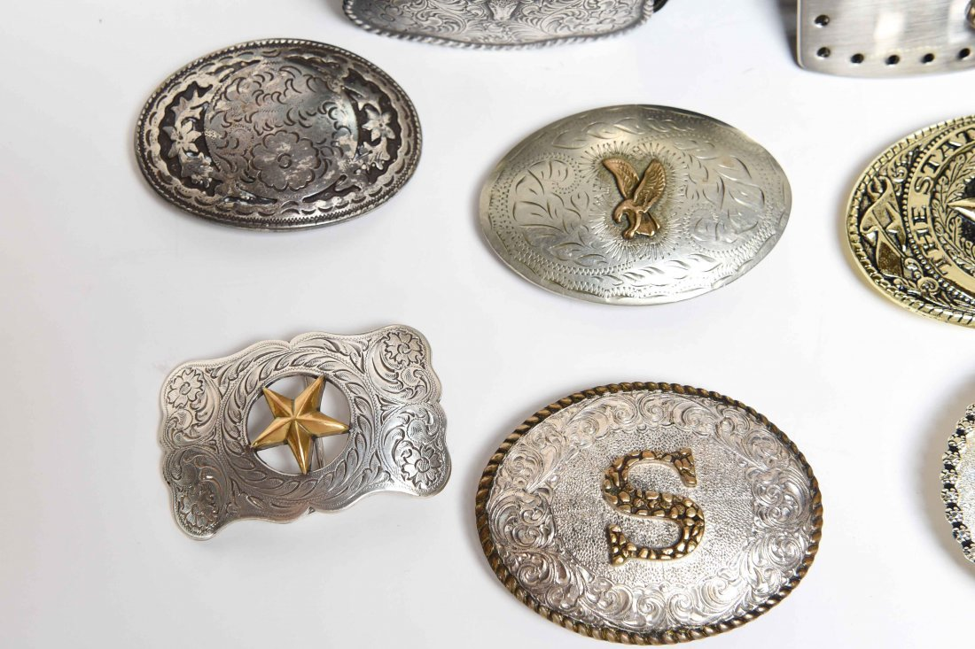 GROUPING OF WESTERN BELTS AND BUCKLES - 2