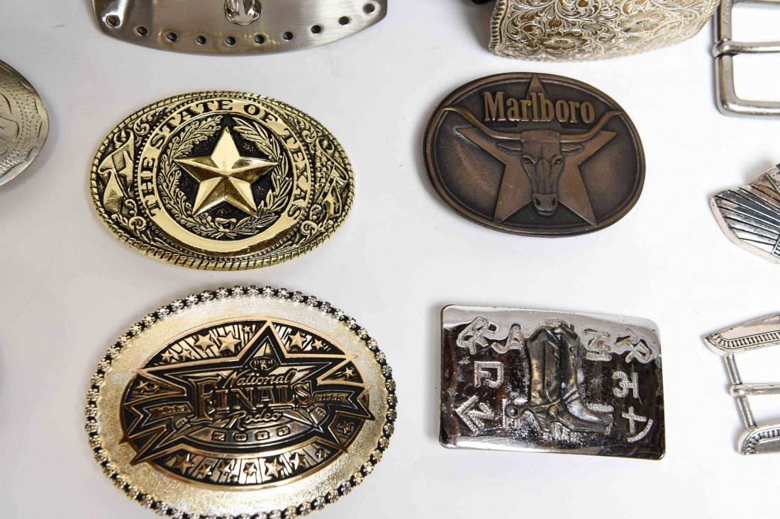 GROUPING OF WESTERN BELTS AND BUCKLES - 3