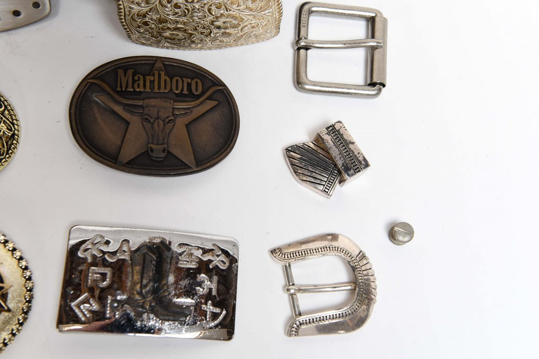 GROUPING OF WESTERN BELTS AND BUCKLES - 4