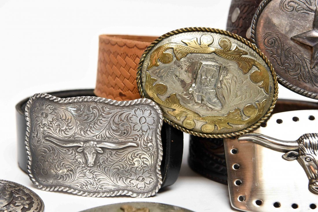 GROUPING OF WESTERN BELTS AND BUCKLES - 5