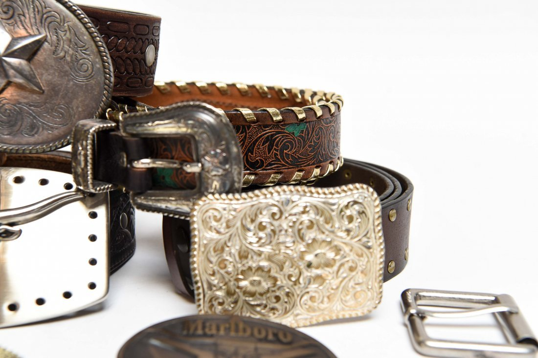 GROUPING OF WESTERN BELTS AND BUCKLES - 7