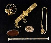 GROUP OF VICTORIAN GOLD FILLED JEWELRY ETC.