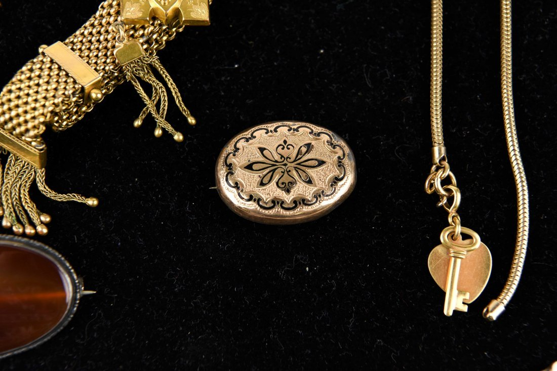 GROUP OF VICTORIAN GOLD FILLED JEWELRY ETC. - 3