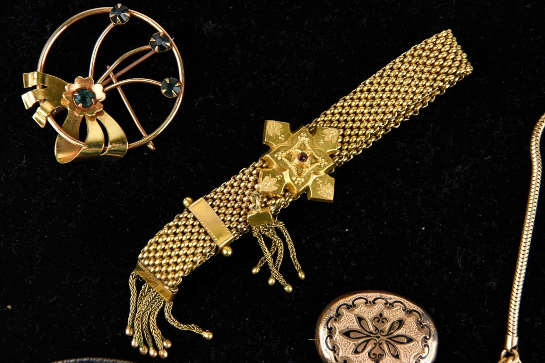 GROUP OF VICTORIAN GOLD FILLED JEWELRY ETC. - 5