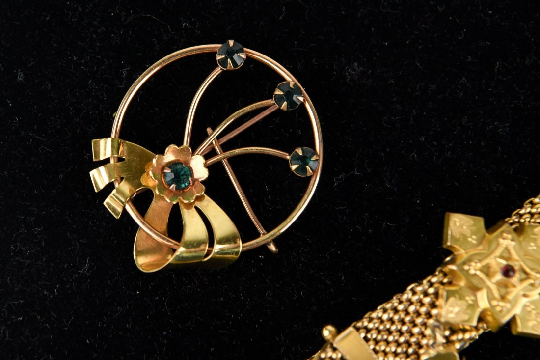 GROUP OF VICTORIAN GOLD FILLED JEWELRY ETC. - 6