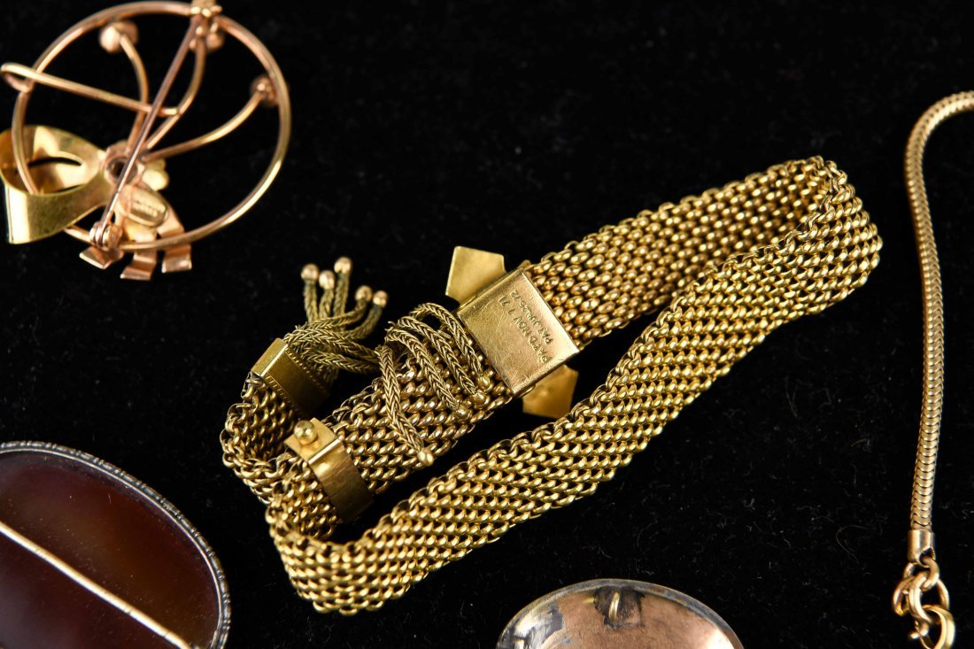 GROUP OF VICTORIAN GOLD FILLED JEWELRY ETC. - 7