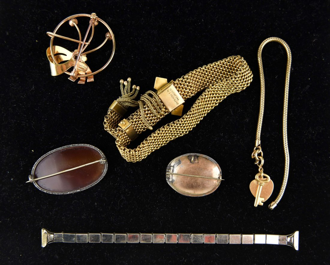 GROUP OF VICTORIAN GOLD FILLED JEWELRY ETC. - 8